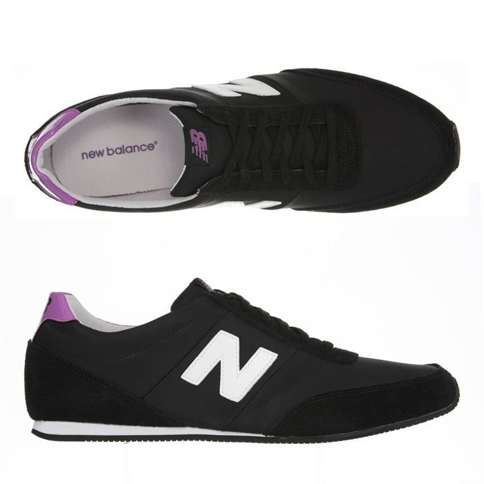 new balance baskets 410 femme noir blanc et violet achat vente new balance 410 femme pas. Black Bedroom Furniture Sets. Home Design Ideas