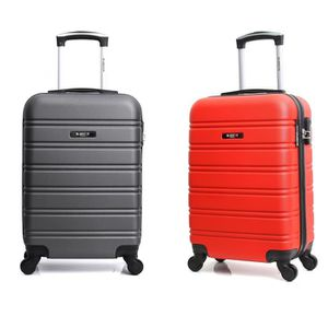 SET DE VALISES BLUESTAR - Lot de 2 Valises Cabine Rigides ABS 4 R