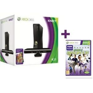 CONSOLE XBOX 360 XBOX 360 4Go KINECT ADVENTURES + KINECT SPORTS