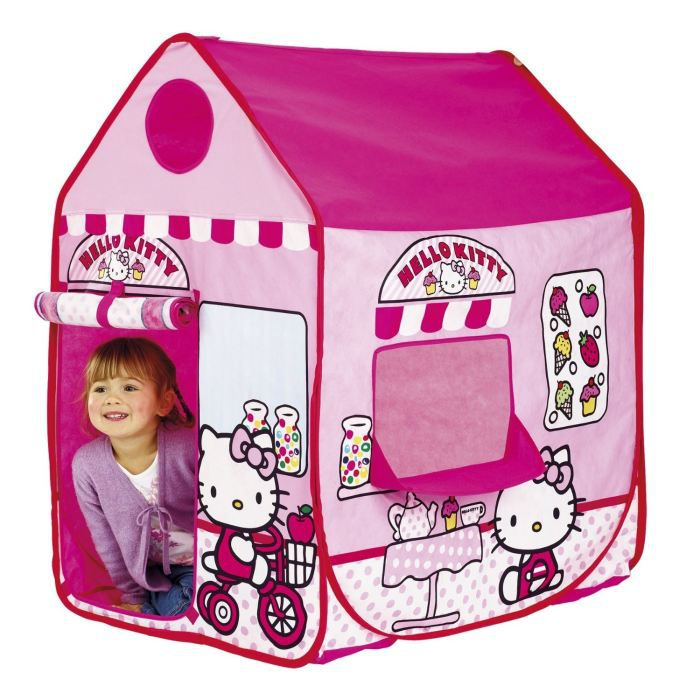 tente enfant cabane hello kitty achat vente tente tunnel d 39 activit cdiscount. Black Bedroom Furniture Sets. Home Design Ideas