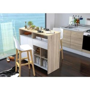 meuble central de cuisine achat vente pas cher. Black Bedroom Furniture Sets. Home Design Ideas