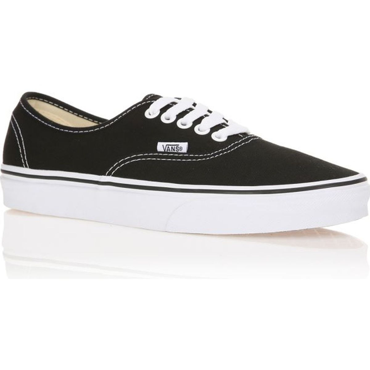 vans baskets authentic mixte homme noir achat vente vans baskets authentic mixte homme pas. Black Bedroom Furniture Sets. Home Design Ideas