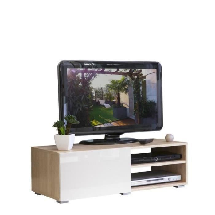 Lime meuble tv contemporain finition ch ne bardolino for Meuble tv longueur 100
