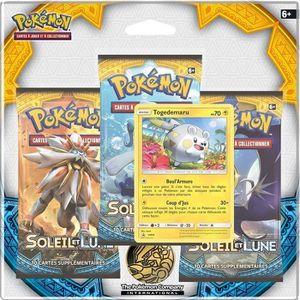 CARTE A COLLECTIONNER POKEMON Pack 3 boosters Pokémon SL01 Lune & Soleil