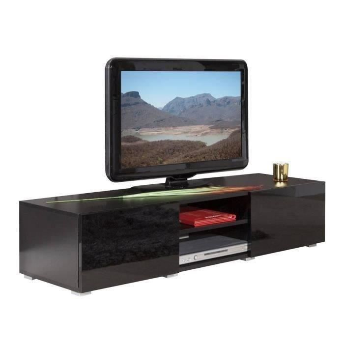 lime meuble tv contemporain noir l 140 cm achat vente meuble tv lime meuble tv 140 cm noir. Black Bedroom Furniture Sets. Home Design Ideas