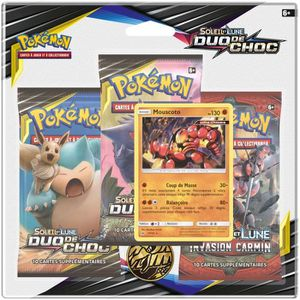 CARTE A COLLECTIONNER POKEMON Soleil et Lune 9 - Duo de choc - Pack 3 bo