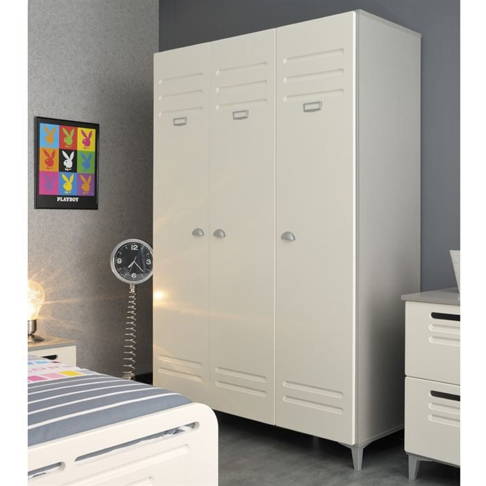 armoire de chambre metal. Black Bedroom Furniture Sets. Home Design Ideas