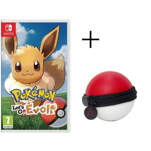 JEU NINTENDO SWITCH Pokémon : Let's go, Evoli Jeu Switch Pokemon Go +