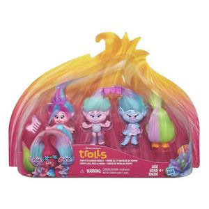 FIGURINE - PERSONNAGE TROLLS Poppy Shopping Pack De 4
