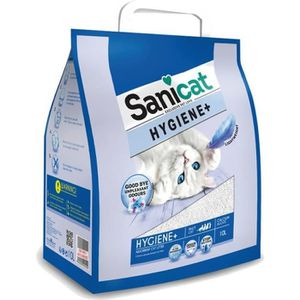 LITIÈRE SILICE - ARGILE SANICAT Litière Hygiene+ 10L - Pour chat