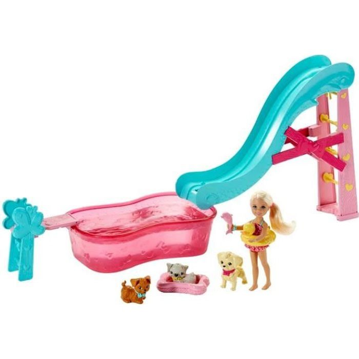 Barbie piscine de chelsea et animaux achat vente for Barbie chien piscine