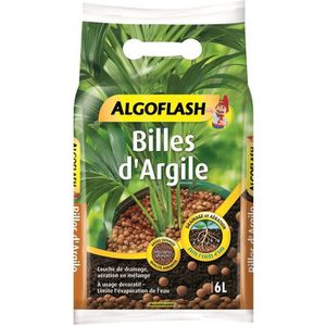 TERREAU - SABLE ALGOFLASH Billes d'Argile - 6 L
