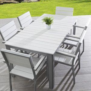 Table aluminium composite lame blanche - Achat / Vente table ...