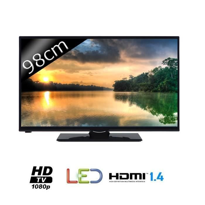 continental edison 39275 tv led full hd 39 t l viseur led avis et prix pas cher cdiscount. Black Bedroom Furniture Sets. Home Design Ideas