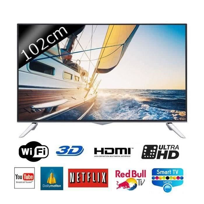 continental edison 40300 smart tv uhd 4k 3d 102cm t l viseur led avis et prix pas cher. Black Bedroom Furniture Sets. Home Design Ideas