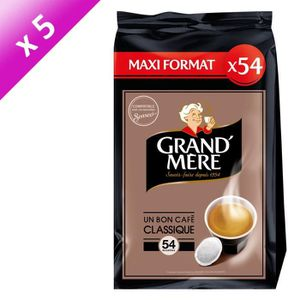 CAFÉ GRAND'MERE Café classique - 54 dosettes x5