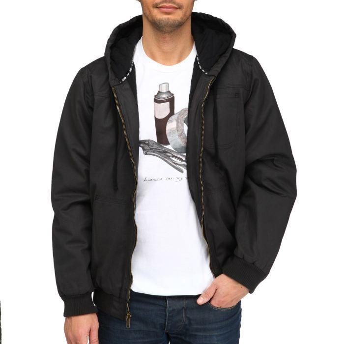 DVS Blouson Homme Noir Achat Vente veste Cdiscount