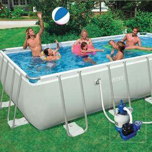 PISCINE Kit piscine tubulaire 5,49 x 2,74 x 1,32 m