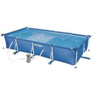 Piscine intex rectangulaire schwimmbadtechnik for Piscine tubulaire intex castorama