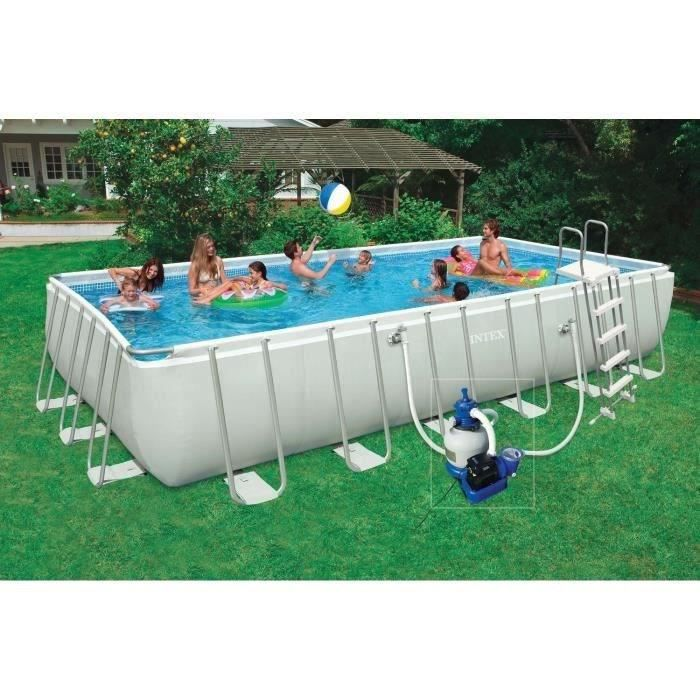 Kit piscine tubulaire 7 32 x 3 66 x 1 32 m achat vente for Piscine tubulaire rectangulaire intex 7 32x3 66x1 32 m