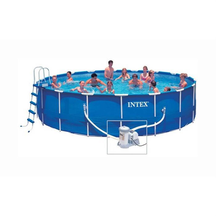 Intex piscine m tal frame achat vente for Piscine tubulaire hauteur 1 m