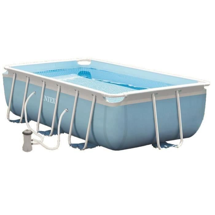 Intex kit piscine tubulaire rectangulaire 300x175x80cm for Piscine tubulaire intex rectangulaire