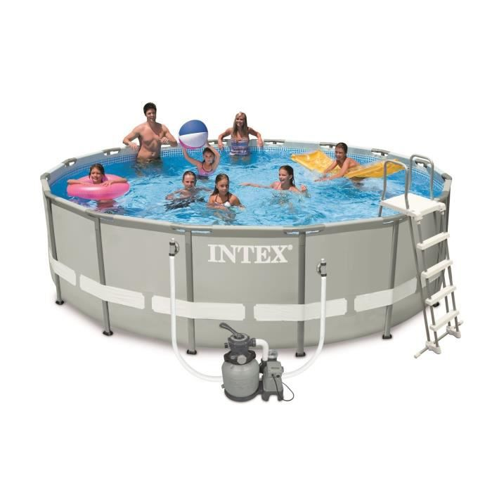 Kit piscine tubulaire ronde 4 88 x 1 22 m achat vente for Piscine ronde tubulaire