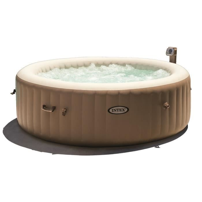 Intex pure spa rond gonflable bulles 6 places 216x71cm beige achat ve - Jacuzzi gonflable occasion ...
