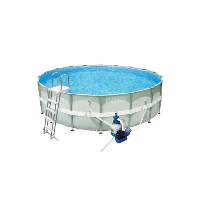 Kit piscine tubulaire ronde 5 49 x 1 32 m achat vente for Liner piscine ronde 5 50