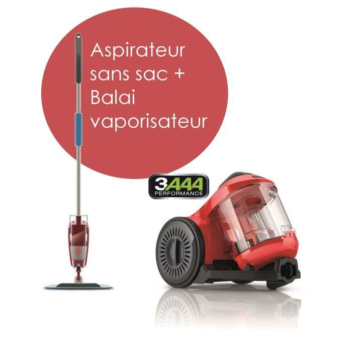 pack aspirateur sans sac balai vaporisateur dirt devil achat vente lot appareil entretien. Black Bedroom Furniture Sets. Home Design Ideas