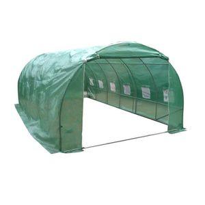 SERRE DE JARDINAGE LAMS Serre souple 18 m² - Tubes galvanisés 19 mm a