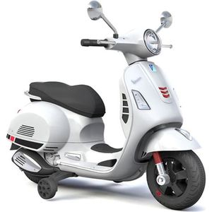 MOTO - SCOOTER VESPA Scooter électrique enfant - 12V - Blanc