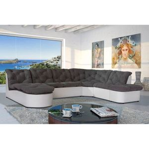 Canape d angle chesterfield achat vente canape d angle for Canapé panoramique modulable