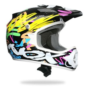 CASQUE MOTO SCOOTER Casque Moto Cross Enfant NOX N724 Flashy