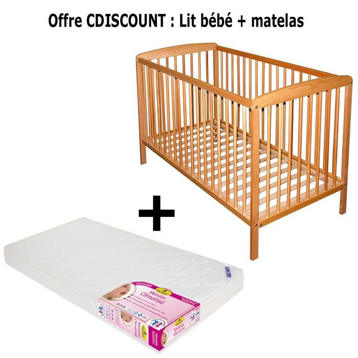 offre cdiscount lit b b benjamin matelas achat. Black Bedroom Furniture Sets. Home Design Ideas