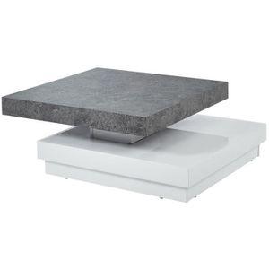 TABLE BASSE VEGAS Table basse pivotante contemporain effet bét