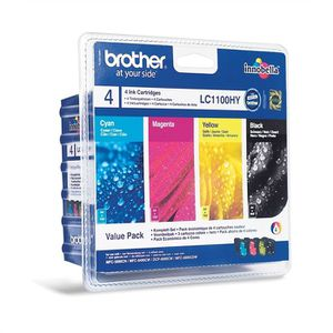 CARTOUCHE IMPRIMANTE Value Pack  Brother LC1100VALBP PACK 4 Cartouche d