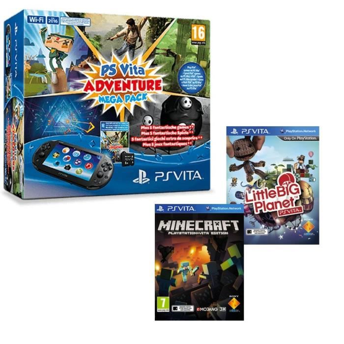 mega pack ps vita achat vente console ps vita nouv mega pack ps vita cdiscount. Black Bedroom Furniture Sets. Home Design Ideas