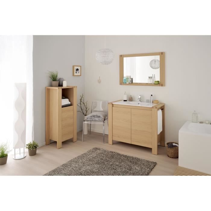 nordic bloc salle de bain l99 5 cm ch ne naturel achat. Black Bedroom Furniture Sets. Home Design Ideas