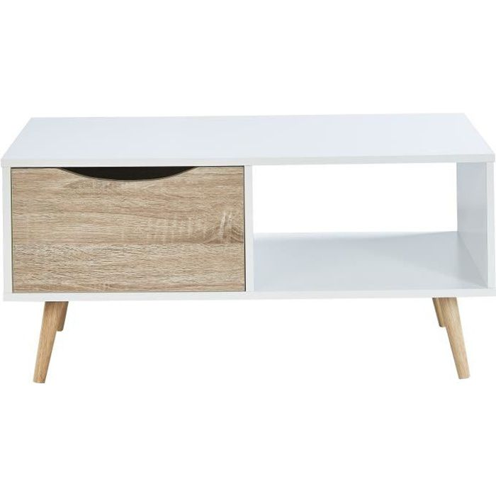 table basse scandinave chene achat vente pas cher. Black Bedroom Furniture Sets. Home Design Ideas