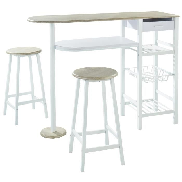 Table bar avec tabourets achat vente pas cher for Achat table bar