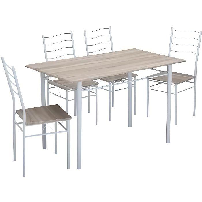 Nina Ensemble Table à Manger De 4 à 6 Personnes 4 Chaises