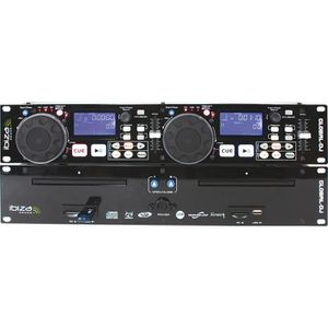 TABLE DE MIXAGE IBIZA Double lecteur CD-MP3 USB SD avec scratch