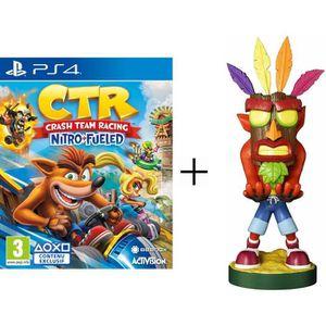 JEU PS4 Pack Crash Bandicoot : Figurine support manette Ca