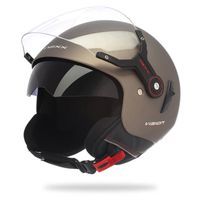 CASQUE MOTO SCOOTER Casque Jet scoot moto NEXX X60 Vision Flex MARRON