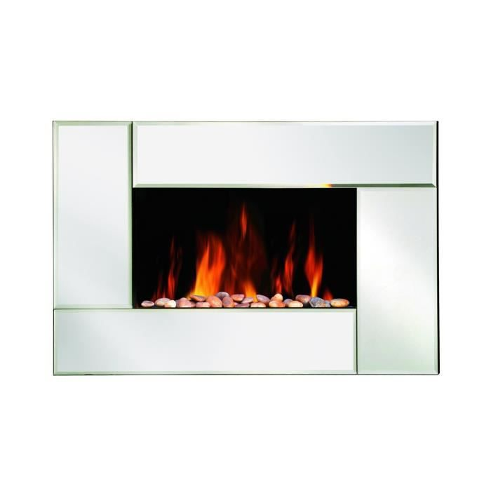 Warmtech 2000 watts chemin e lectrique miroir d corative for Cheminee decorative murale electrique