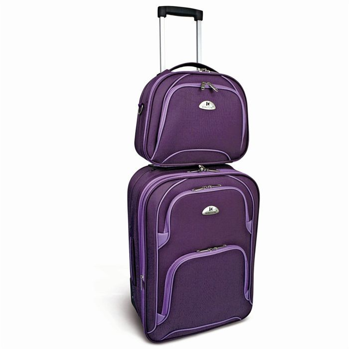 SET DE VALISES KINSTON Set Valise Cabine Trolley + Vanity
