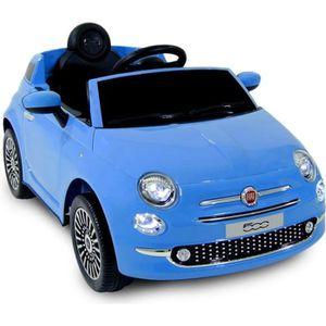 VOITURE ELECTRIQUE ENFANT FIAT 500 Voiture électrique enfant - 12V - Bleu