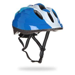 CASQUE DE VÉLO Casque vélo enfant, bleu et blanc, taille : 48 - 5