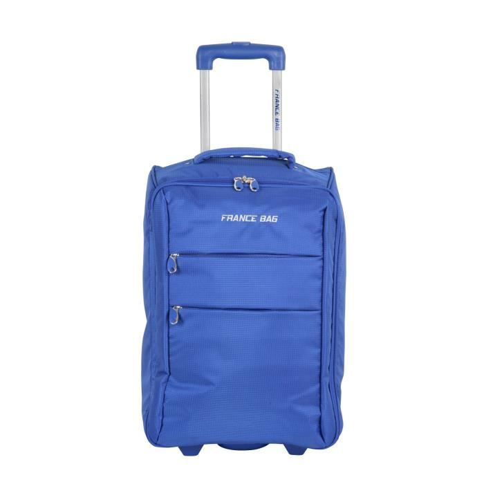 Gris Basics Valise cabine extensible souple /à roulettes avec serrure TSA 48 cm